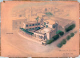 Potter's House in Old Cairo perspective drawing